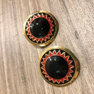 Black and Red Earrings